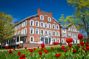 600-Middlebury-Inn-Building-and-flowers