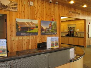 Bennington Welcome Center front desk  coffee bar