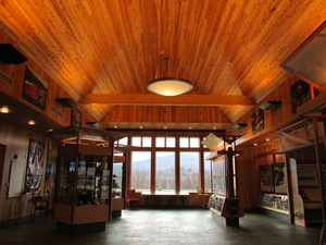 Bennington Welcome Center inside main hall