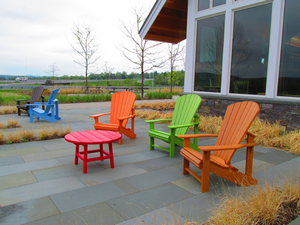 Bennington Welcome Center patio furniture 2