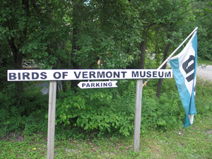 Birds of Vermont entry sign