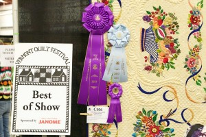 Vermont Quilt gallery FestivalBest in show with ribbons
